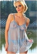 Nightdress La Bella 132, paris blue